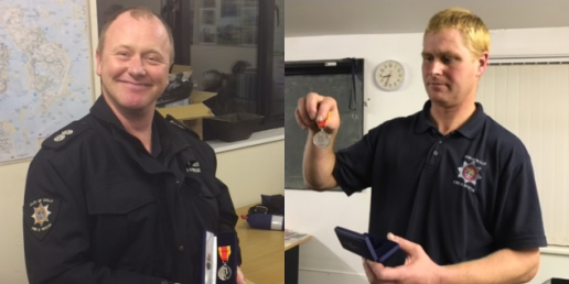 Fire Brigade Long Service Medals - Isles of Scilly