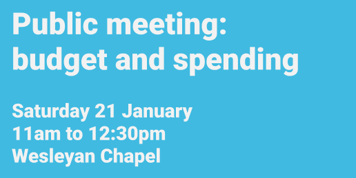 Public meeting: budget and spending priorities