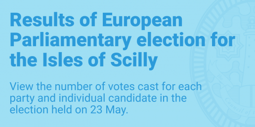 Results of European Parliamentary election for the Isles of Scilly