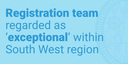 Registration team regarded as exceptional