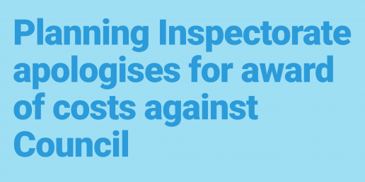Planning Inspectorate apology
