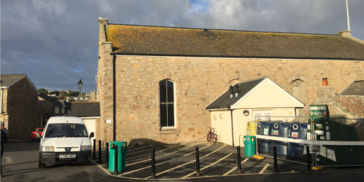 Scilly Town Hall fixed trading site