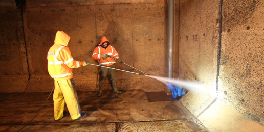 Reservoir cleaning Scilly