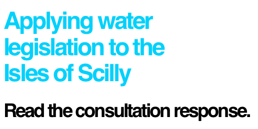 Water consultation response